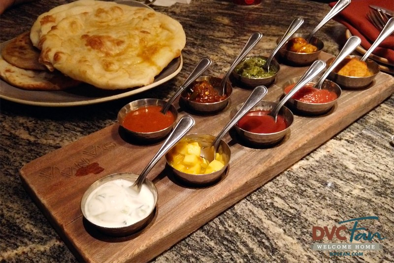 Indian-Style Bread Service - Sanaa Lounge