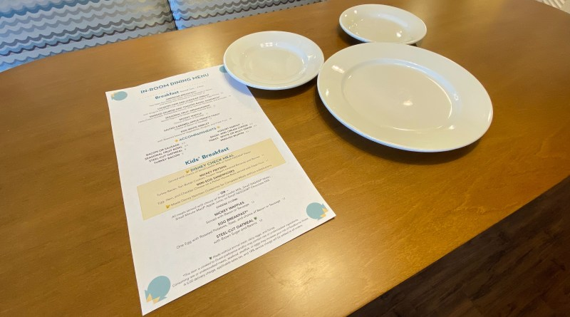 In-Room Dining: Disney's Beach Club Villas