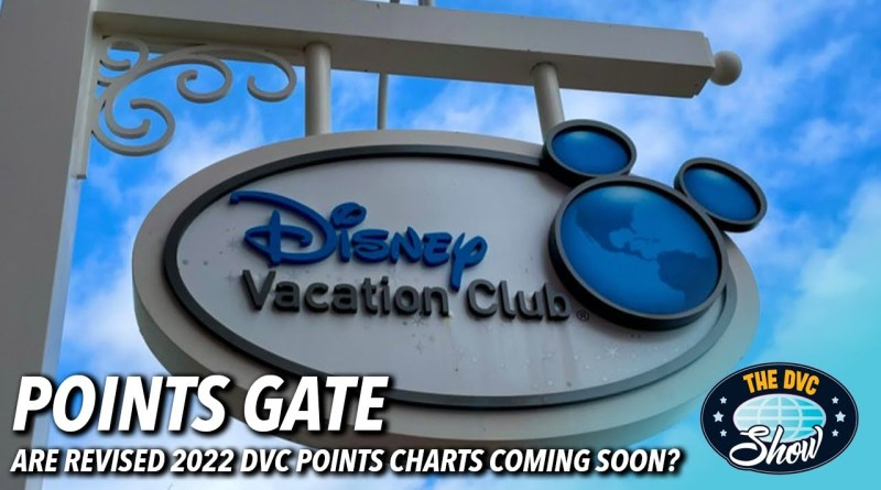 Revised DVC Points Charts