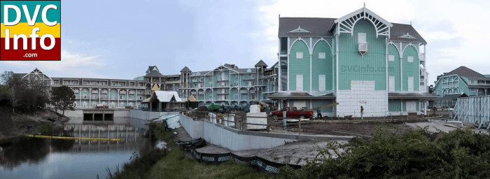 Disney's Beach Club Villas under construction