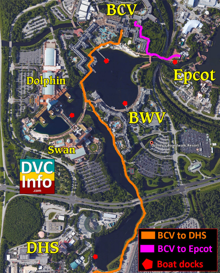Disney's Beach Club Villas Walking Map