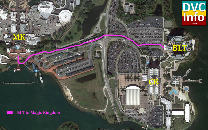 Disney's Bay Lake Tower Walking Map