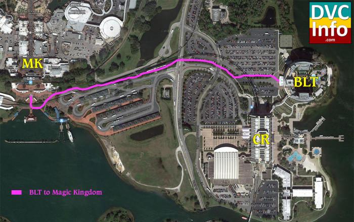 Disney's Bay Lake Tower Walking Map