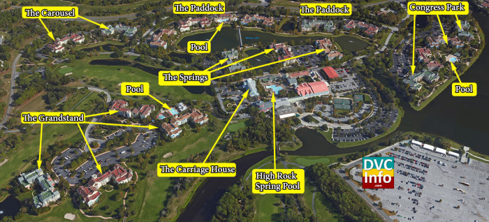 Satellite View of Disney's Saratoga Springs Resort & Spa