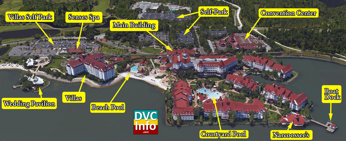 Grand Floridian Map The Villas at Disney's Grand Floridian Resort & Spa   DVCinfo