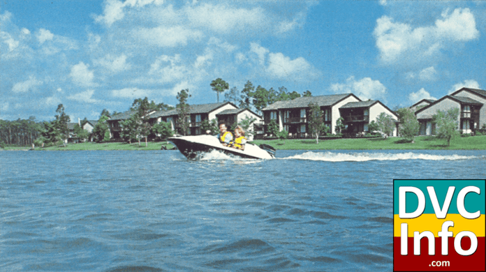 Boating by the vacation villas