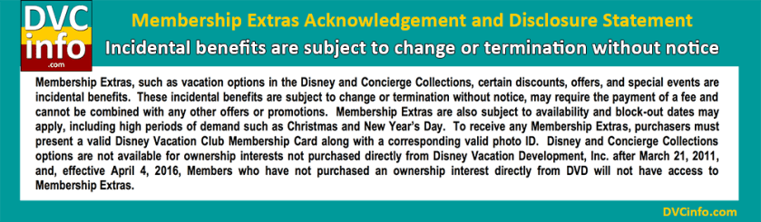 DVC Perks are subject to change