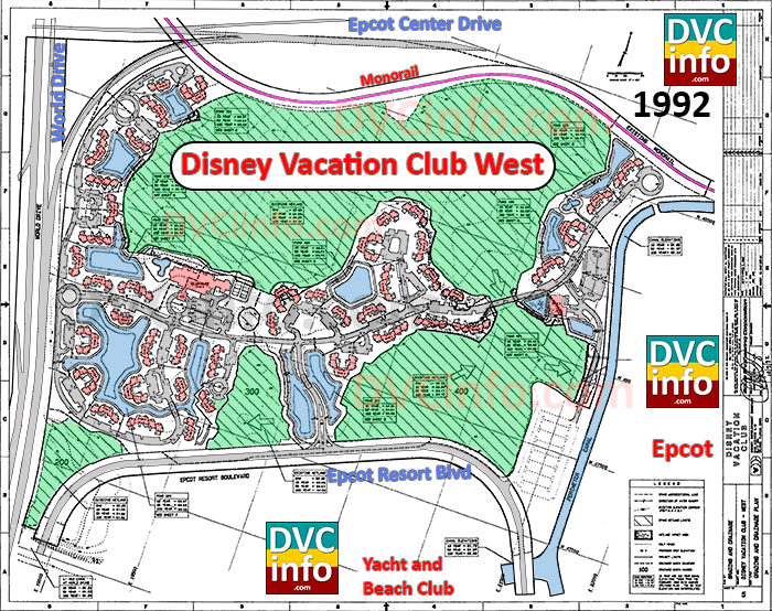 Oct 1992 site plan for Disney Vacation Club WEST