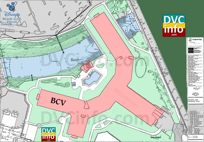 Disney's Beach Club Villas site plan