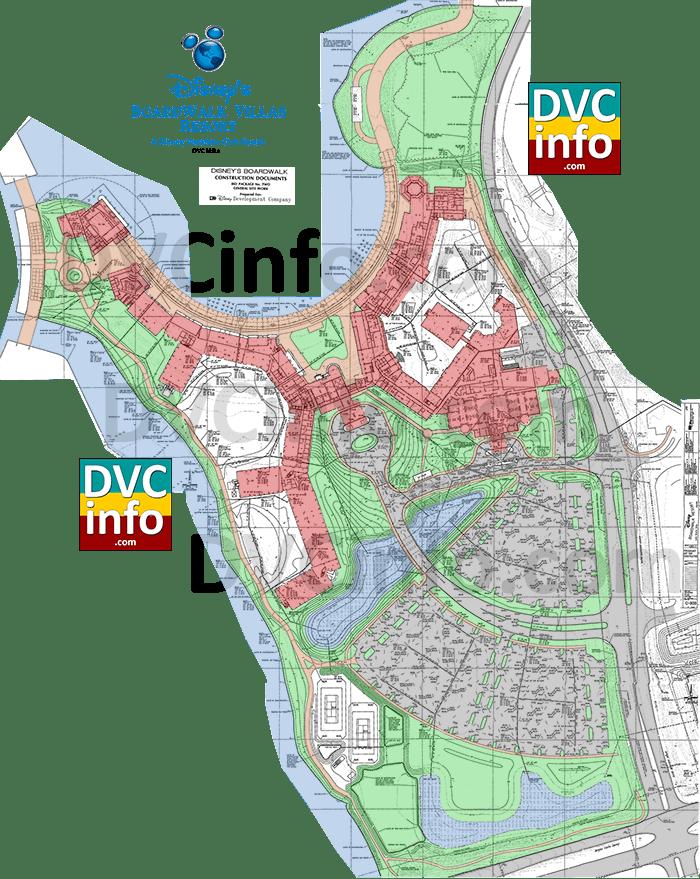 Disney's Boardwalk Site Plan 1993