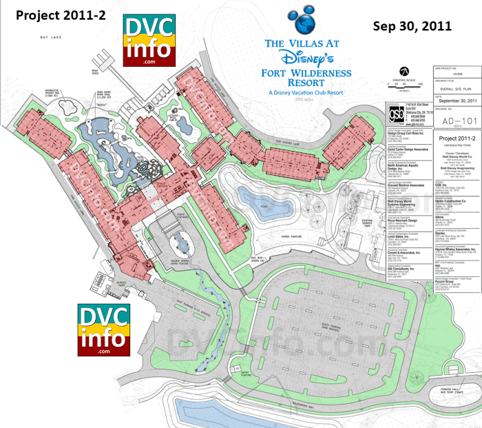 Disney's Fort Wilderness DVC Site Plan