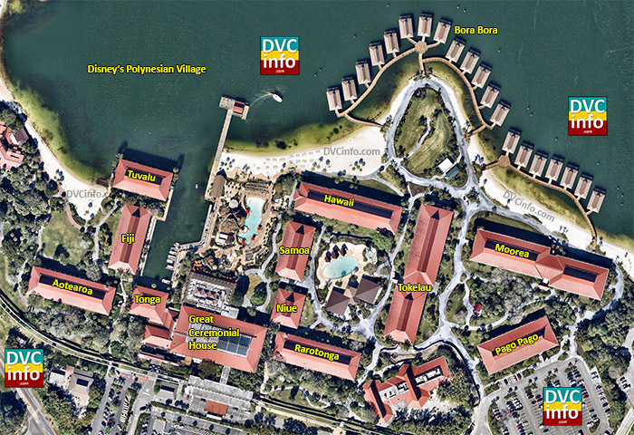Polynesian Resort Aerial view