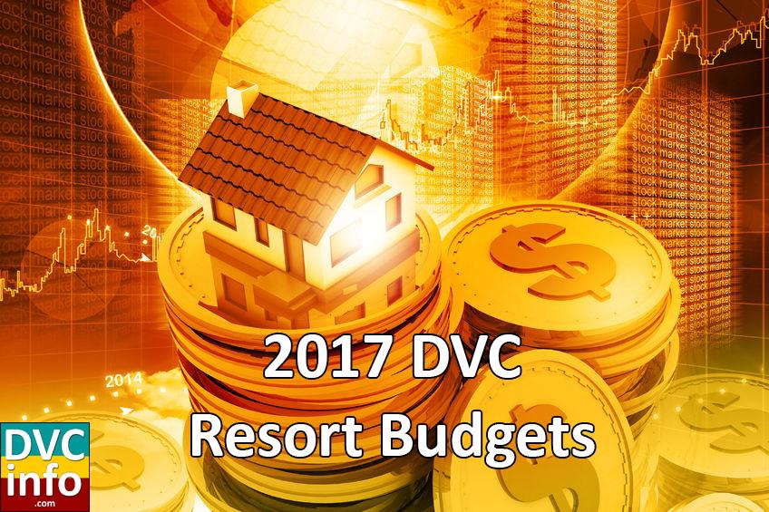 2017 DVC Resort Budgets