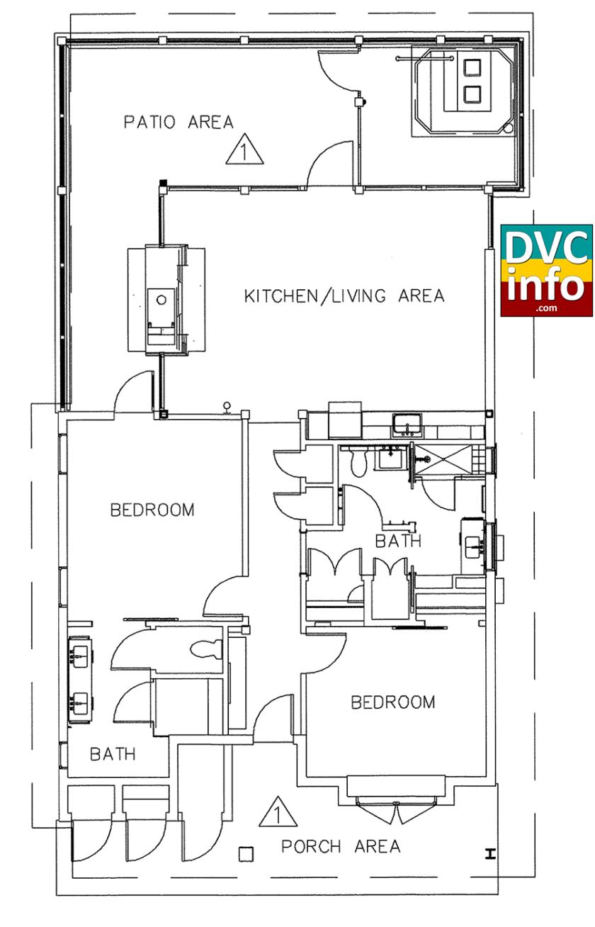 Copper Creek Villas - Cabin floorplan