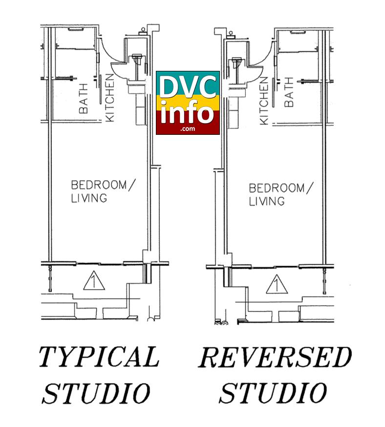 Copper Creek Villas - Studio floor plan
