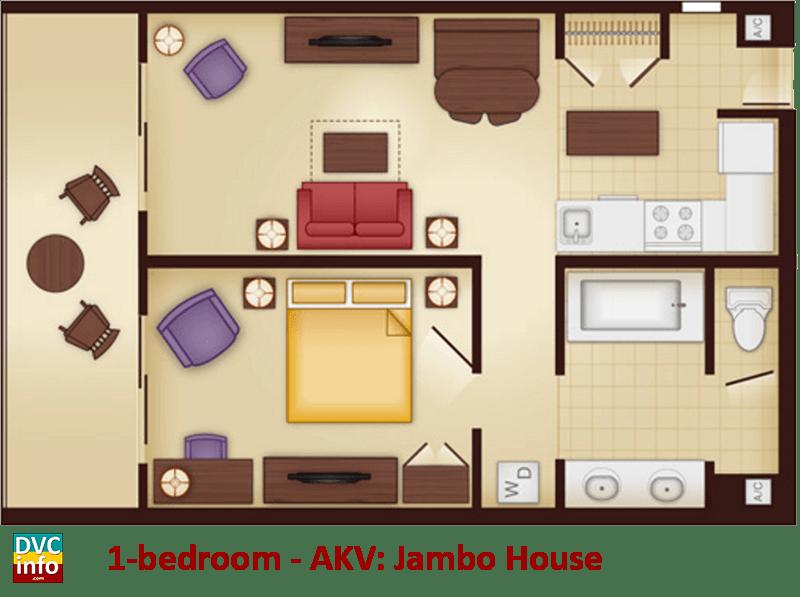 1-bedroom floor plan - AKV Jambo House