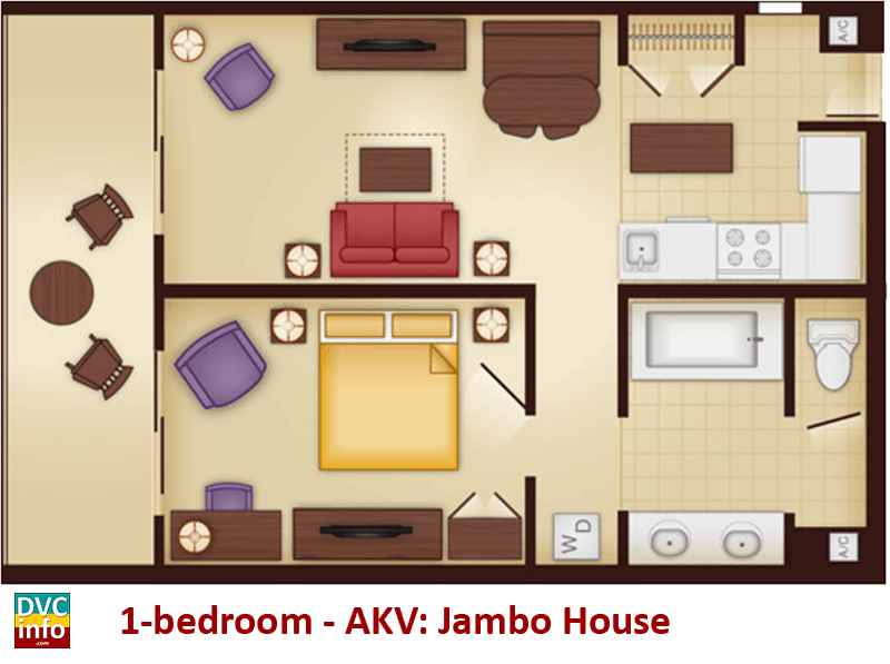 1-bedroom floor plan - AKV Jambo House