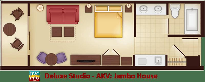 Studio floor plan - AKV Jambo House