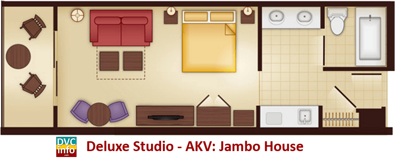 Studio floor plan - AKV Jambo House