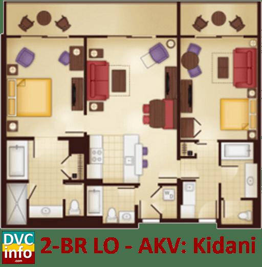 2-bedroom lock-off floor plan - AKV Kidani Village