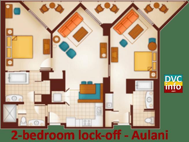 Aulani 1 Bedroom Villa Floor PlanAulani A Disney Resort