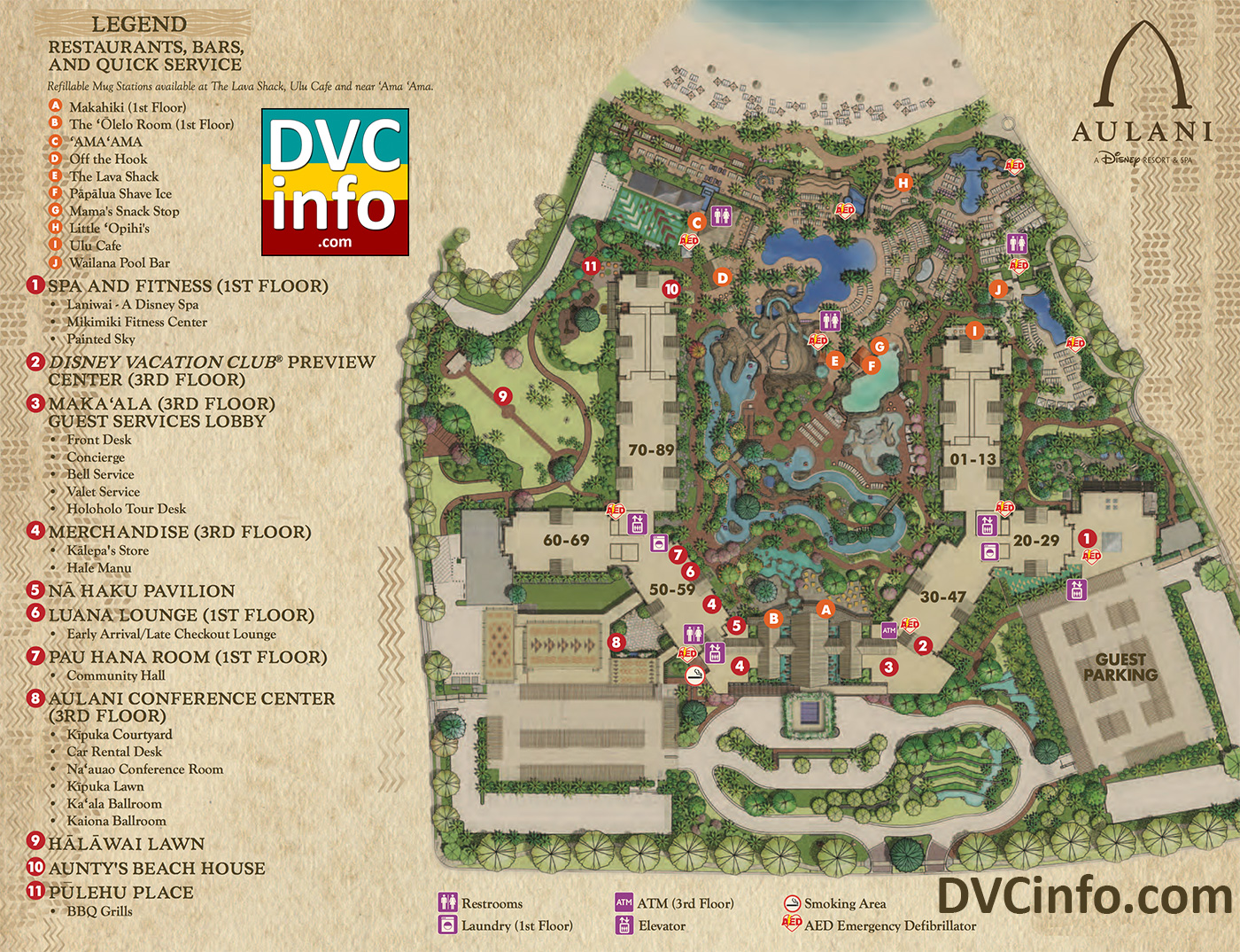 Aulani Resort Map (click For Larger Image) ...