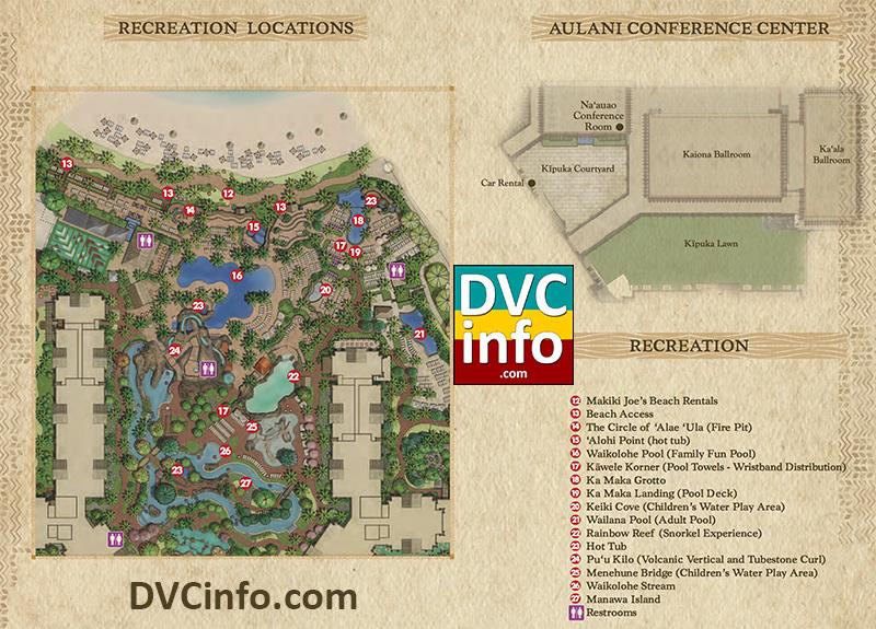 Aulani Resort Map
