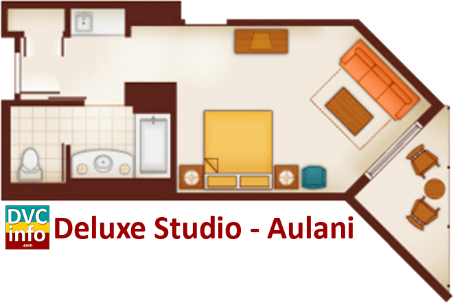 Studio floor plan - Aulani