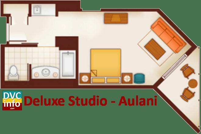 Studio floor plan - Aulani