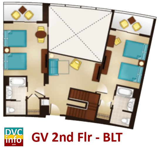Grand Villa 2nd floor plan - Bay Lake Tower