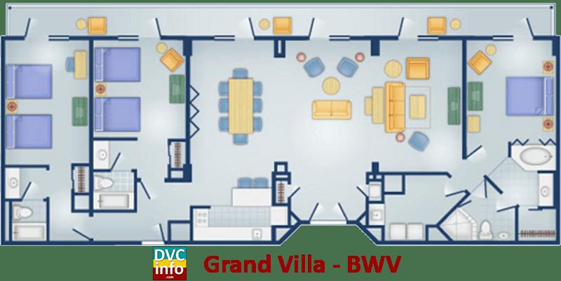 Disney Boardwalk 3 Bedroom Grand Villa on Old Key West 2 Bedroom Villa Floor Plan