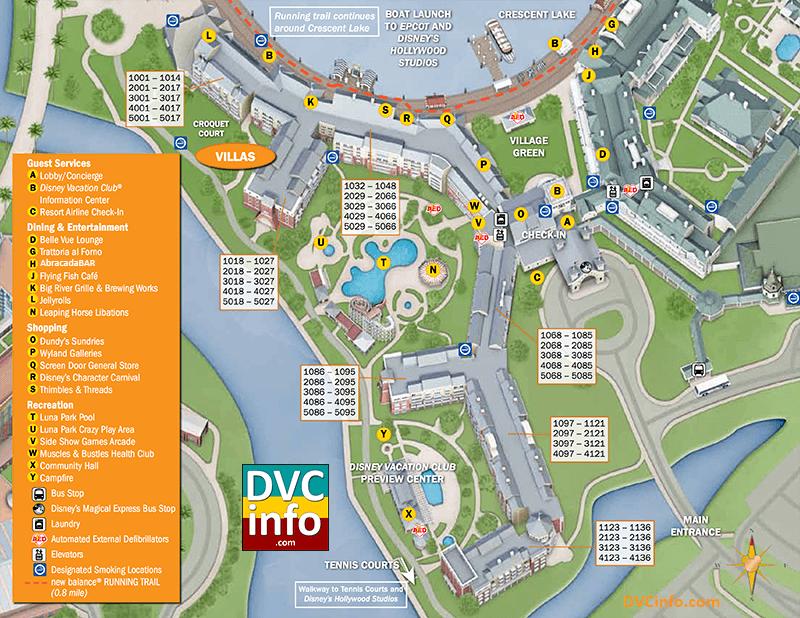 Disney's BoardWalk Villas Resort Map