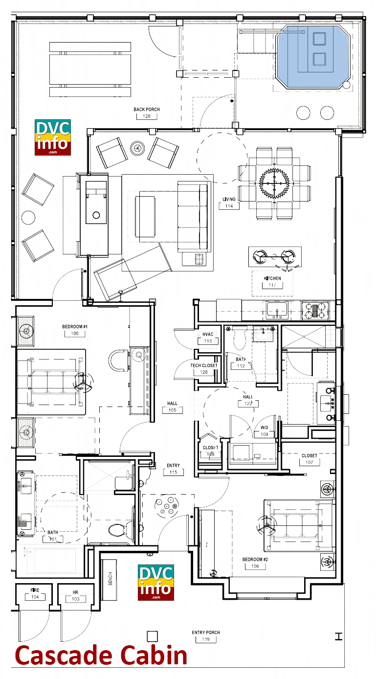 Copper Creek Villas - Cabin floor plan
