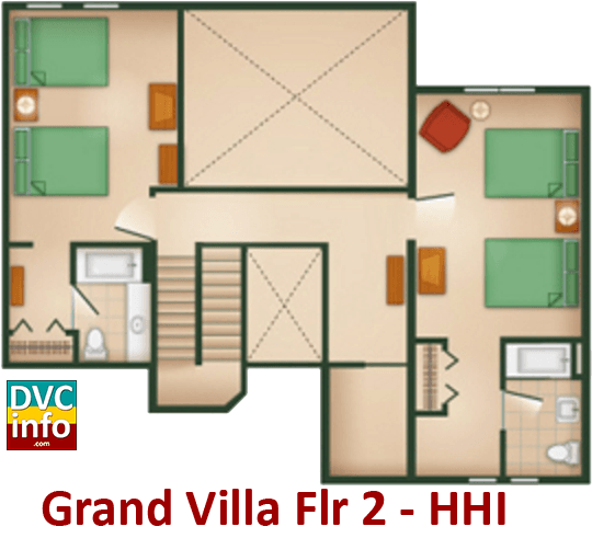 Grand Villa 2nd floor plan - Hilton Head Island