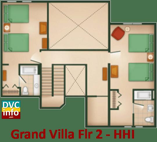 Grand Villa 2nd floor plan - Hilton Head Island