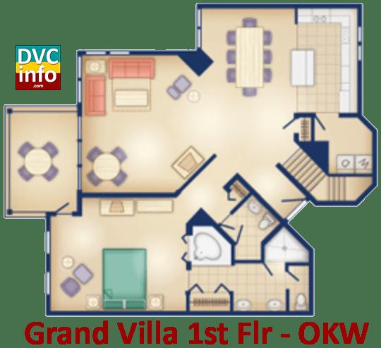 Grand Villa 1st floor plan - Old Key West