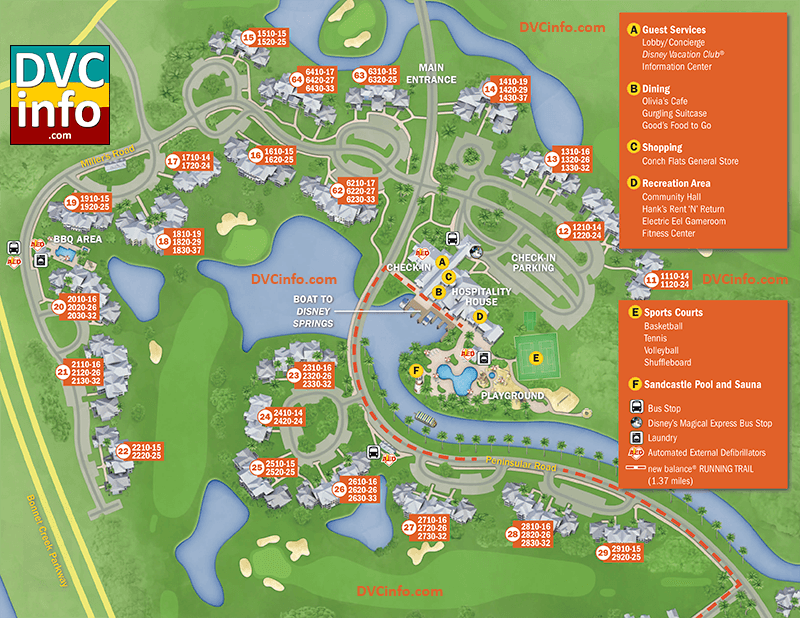 Disney's Old Key West Resort Map