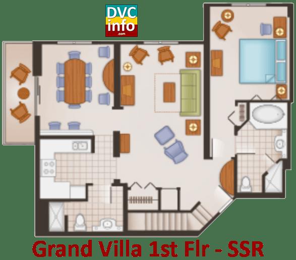 Grand Villa 1st floor plan - Saratoga Springs Resort