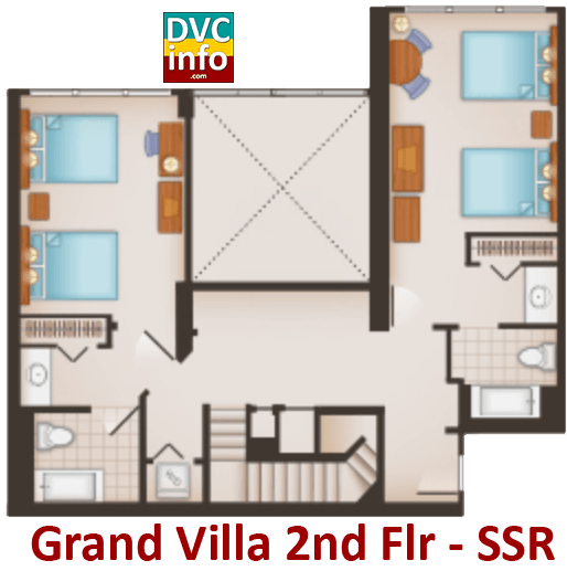 Grand Villa 2nd floor plan - Saratoga Springs Resort