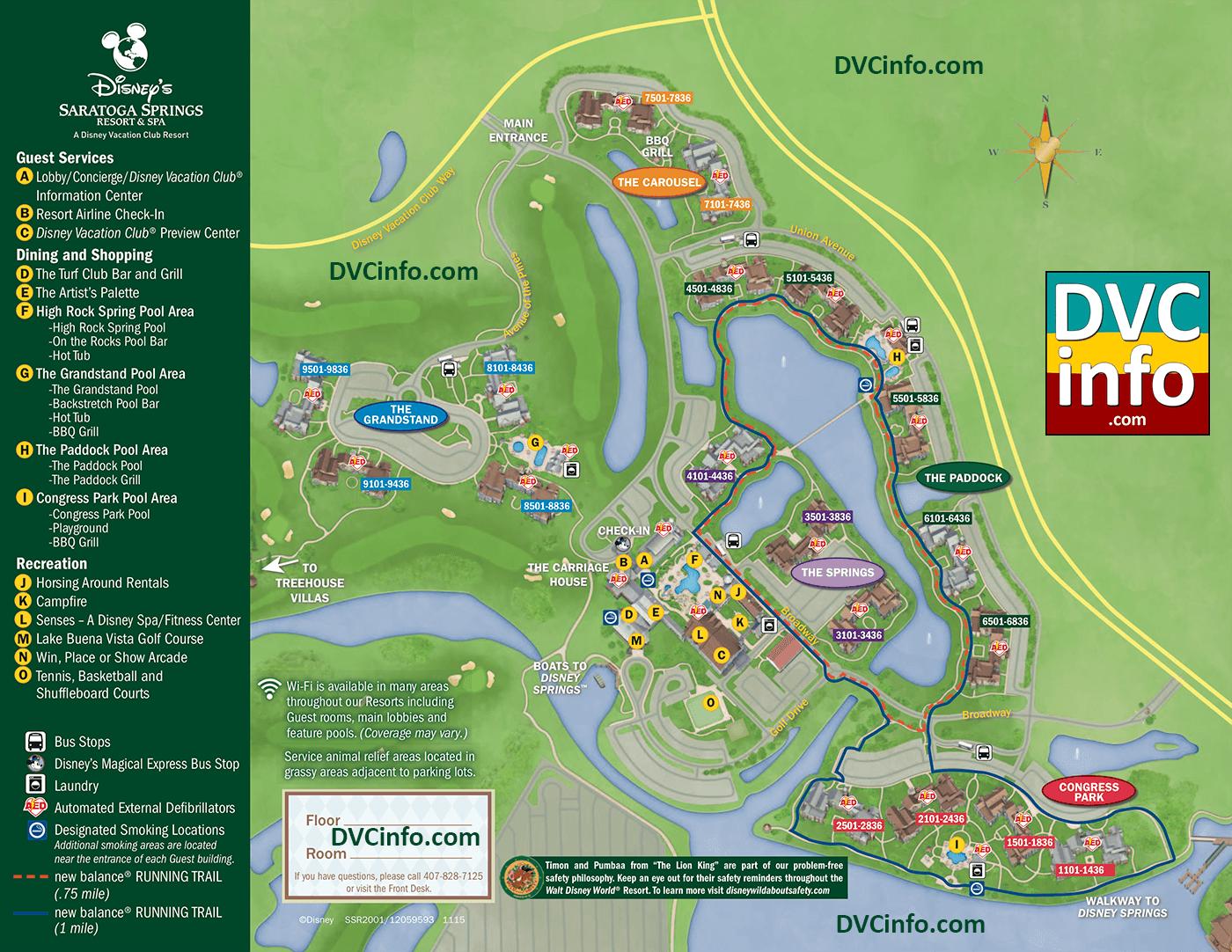 Disney Saratoga Springs Map Disney's Saratoga Springs Resort & Spa   DVCinfo