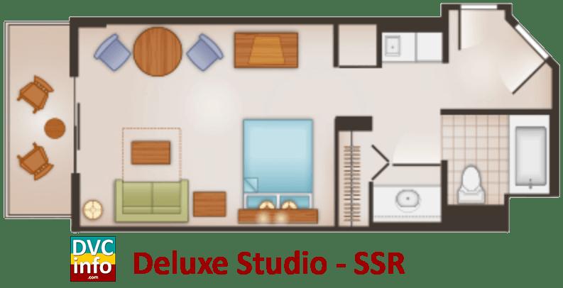 Studio floor plan - Saratoga Springs Resort