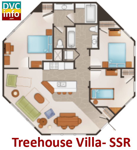 Treehouse Villa floor plan - Saratoga Springs Resort