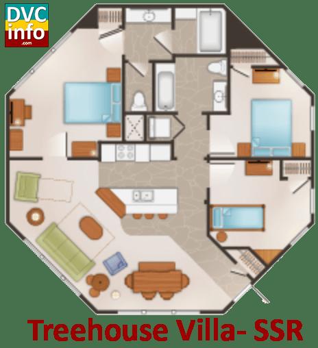 Treehouse Villa floor plan - Saratoga Springs Resort