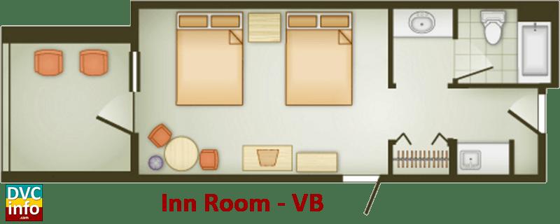 Inn Room floor plan - Vero Beach Resort