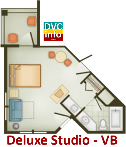 Studio floor plan - Vero Beach Resort