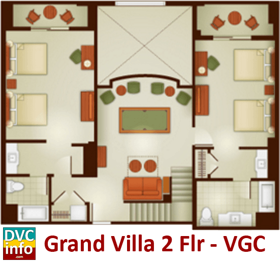 Grand Californian Villas  Bedroom Rate