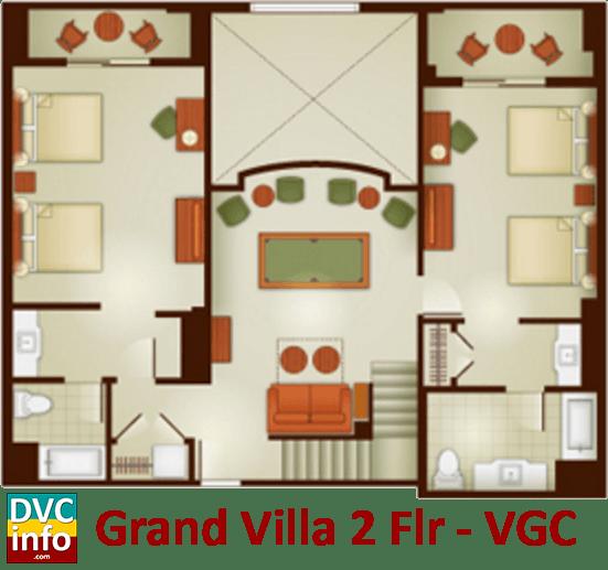 Grand Villa 2nd floor plan - Villas at the Grand Californian