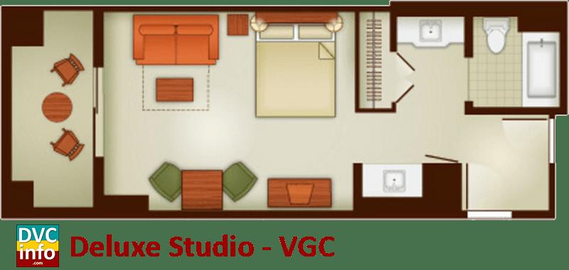 Studio floor plan - Villas at the Grand Californian