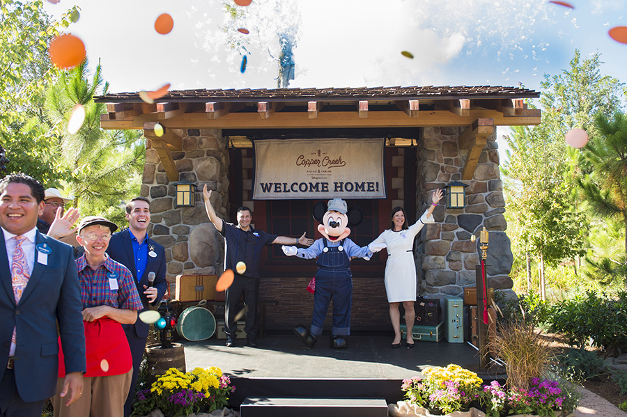 Copper Creek Villas & Cabins at Disney's Wilderness Lodge Grand Opening