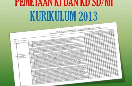 Pemetaan KI KD Kelas 6 SD MI K13 Revisi Terbaru Tahun 2020 2021